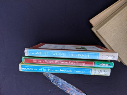 spine view of dust jackets for a Set of 3 Winnie-the-Pooh A. A. Milne books 1979 - 83