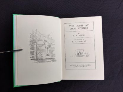 title page in a 1963 copy of The House at Pooh Corner by A. A. Milne