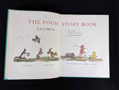 title page inside of a 1965 copy of The Pooh Story Book stated 1st Canadian Edition