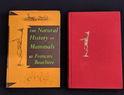 1954 First American Edition copy of The Natural History of Mammals by François Bourlière - front cover and dustjacket