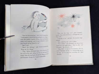 1956 copy of The Fairy Doll by Rumer Godden page 54 and 55