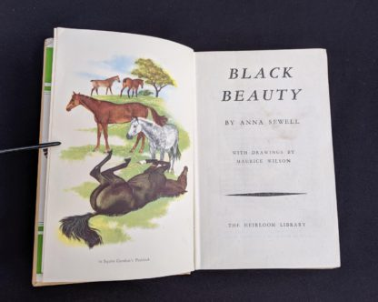 Title page in a 1949 copy of Black Beauty by Anna Sewell - The Heirloom Library - first printing