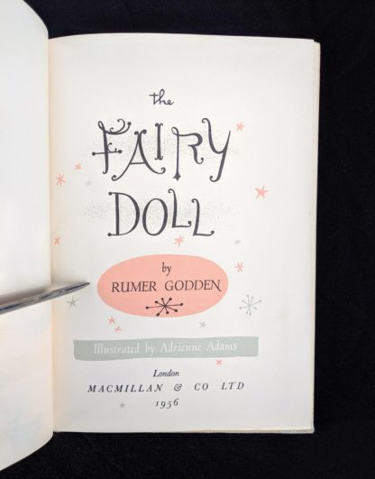 Title page in a 1956 copy of The Fairy Doll by Rumer Godden
