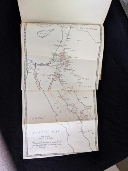 fold out map in a 1927 copy of Revolt in the Desert by T. E. Lawrence
