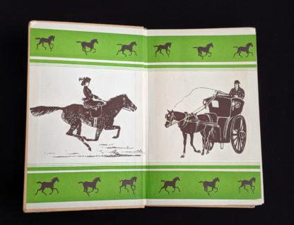 front pastedown and end paper in a 1949 copy of Black Beauty by Anna Sewell - The Heirloom Library - first printing