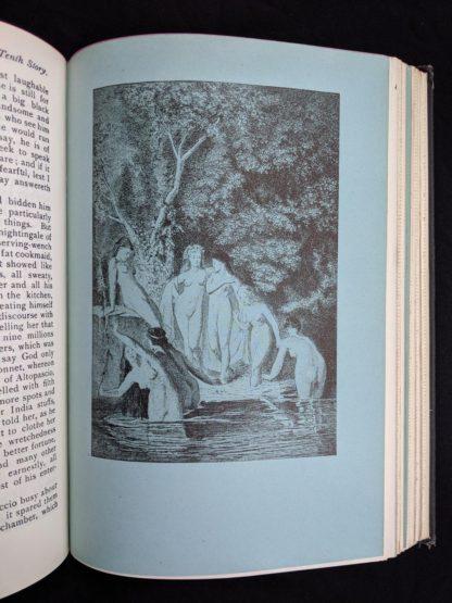 illustration inside a copy of The Decameron of Boccaccio by Giovanni Boccaccio. Published by The Bibliophilist Society circa 1930s