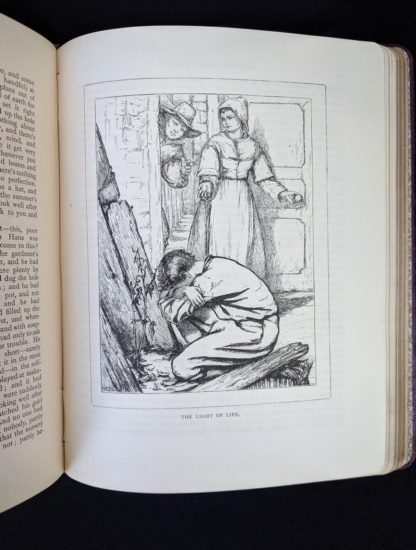 illustration titled The Light of Life in a 1888 copy of Parables from Nature by Margaret Gatty -First and Second series in one volume
