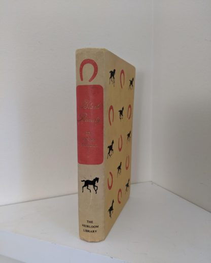spine view of a 1949 copy of Black Beauty by Anna Sewell - The Heirloom Library - first printing