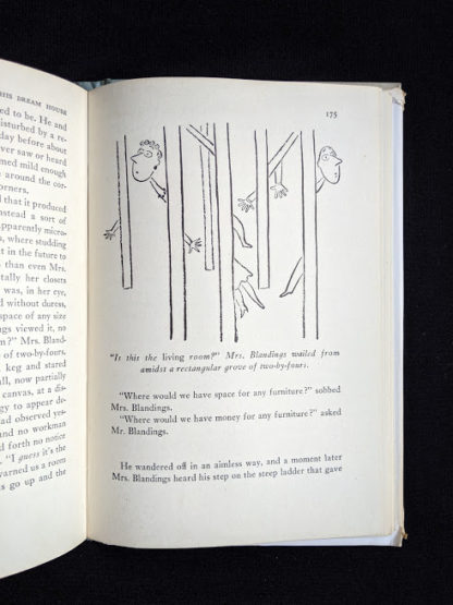 1946 first edition copy of Mr. Blandings Builds His Dream House by Eric Hodgins - illustration on page 175