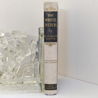 Spine view of a First Edition copy of The White Witch 1958 by Elizabeth Goudge published in London by Hodder & Stoughton