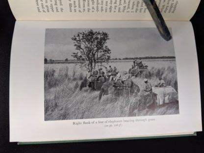 photograph with elephants in a 1954 copy of The Temple Tiger and More Man-Eaters of Kumaon by Jim Corbett - second impression