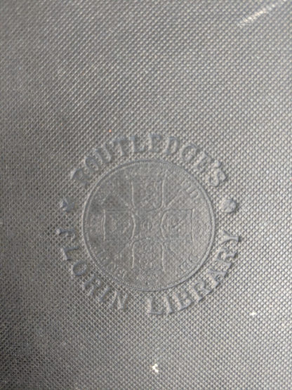 blindstamp on front cover of a 1880s copy of The Tower of London by Ainsworth