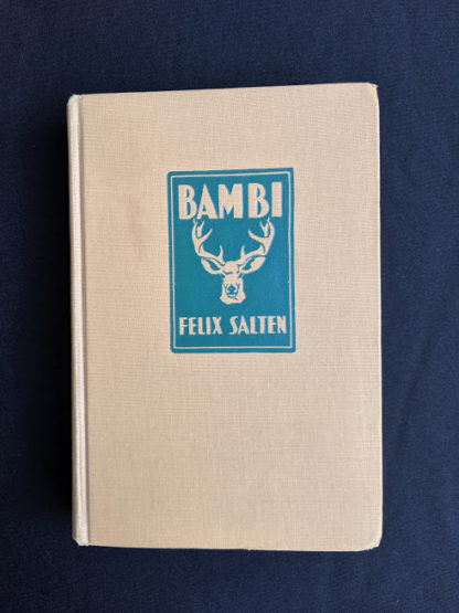 front cover of a 1929 copy of Bambi by Felix Salten published by Grosset & Dunlap