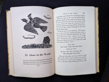 1946 second printing of a Rainbow Classics edition of Pinocchio The Adventures of a Little Wooden Boy page 122 and 123