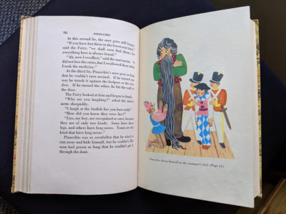 1946 second printing of a Rainbow Classics edition of Pinocchio The Adventures of a Little Wooden Boy page 96 and 97