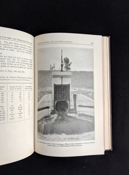 1950 copy of Handbook of Culvert & Drainage Practice - ARMCO Products - page 403