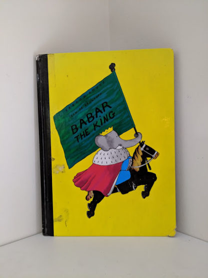 1963 copy of Babar the King by Jean de Brunhoff