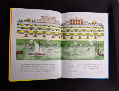 1963 copy of Babar the King by Jean de Brunhoff - page 12 and 13