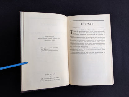 Preface in a 1950 copy of Handbook of Culvert & Drainage Practice - ARMCO Products