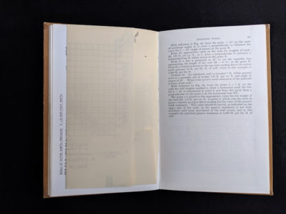 folded up graph page inside a 1959 textbook Practical Problems in Soil Mechanics- third edition- by Henry R. Reynolds and P. Protopapadakis
