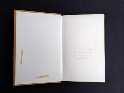 front pastedown and endpaper inside a 1959 copy of Practical Problems in Soil Mechanics- third edition- by Henry R. Reynolds and P. Protopapadakis