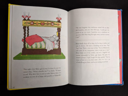 illustration of King Babar sleeping in a 1963 copy of Babar the King by Jean de Brunhoff