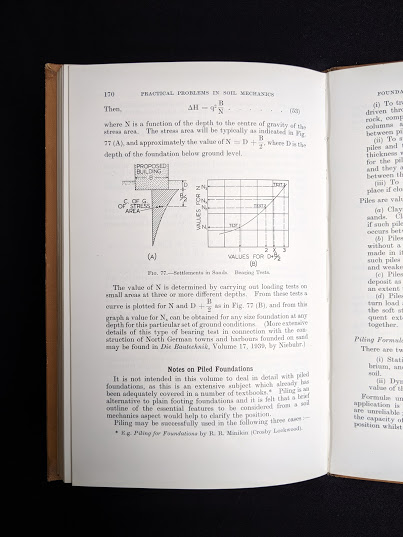 page 170 inside a 1959 textbook Practical Problems in Soil Mechanics- third edition- by Henry R. Reynolds and P. Protopapadakis
