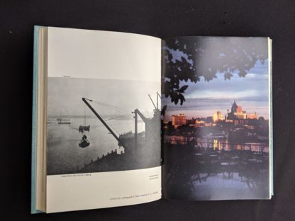 photograph of industry on false creek in a first edition copy of British Columbia -A Centennial Anthology