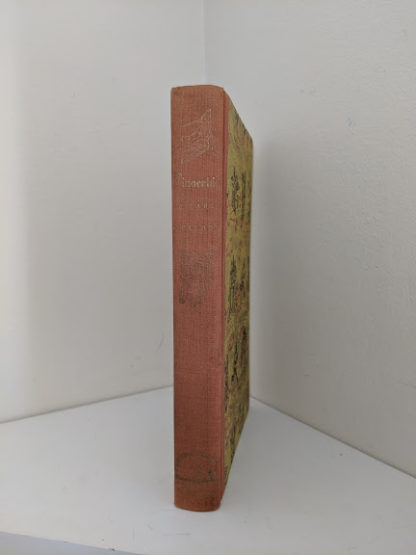 spine view in a 1946 second printing of a Rainbow Classics edition of Pinocchio The Adventures of a Little Wooden Boy