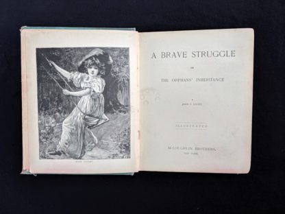 title page for a 1886 copy of A Brave Struggle by John S. Locke published by McLoughlin Brothers