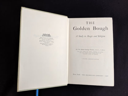 title page in a 1951 copy of The Golden Bough - A Study in Magic and Religion