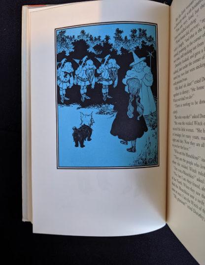 1962 copy of The Wizard of Oz published by Macmillan Company with illustrations by Denslow - second printing