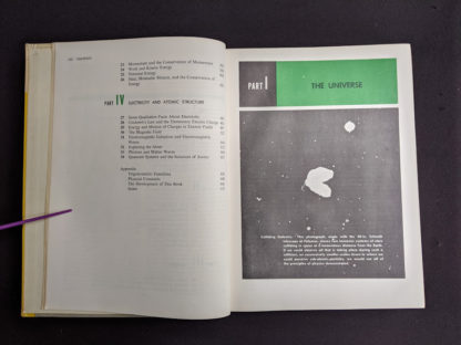 Contents page 2 of 2 in a 1960 copy of Physics - Physical Science Study Committee - First Edition
