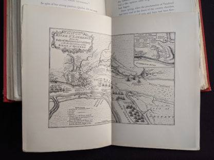 Map of the St Lawrence River in a 1904 copy of Old Quebec - The Fortress of New France by Gilbert Parker and Claude G Bryan