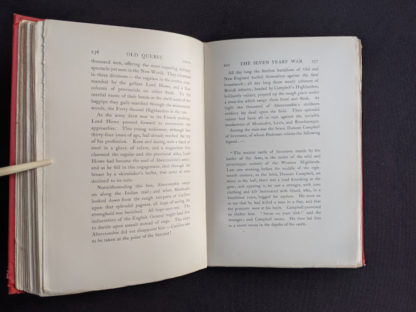 Seven Years of War - pages 256 and 257 in a 1904 copy of Old Quebec - The Fortress of New France by Gilbert Parker and Claude G Bryan