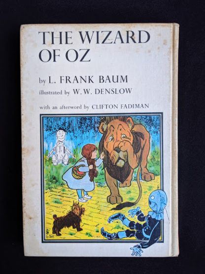 backside of a 1962 copy of The Wizard of Oz published by Macmillan Company