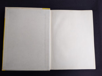 front paste down and endpaper inside a 1960 copy of Physics - Physical Science Study Committee - First Edition
