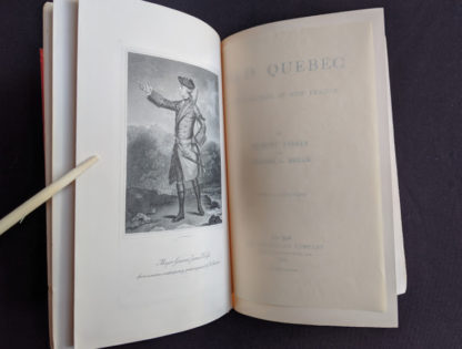 frontis with a tissue guard in a 1904 copy of Old Quebec - The Fortress of New France by Gilbert Parker and Claude G Bryan