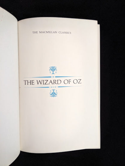 pre title in a 1962 copy of The Wizard of Oz published by Macmillan Company with illustrations by Denslow