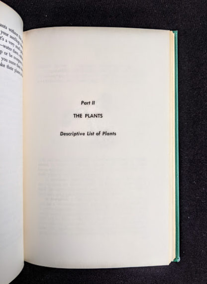 1959 copy of Rock Garden Plants - New Ways to Use Then Around Your Home by Doretta Klaber - Part 2 title page