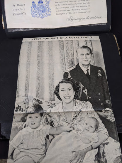 Portrait of the Royal Family when Charles and Anne were very young