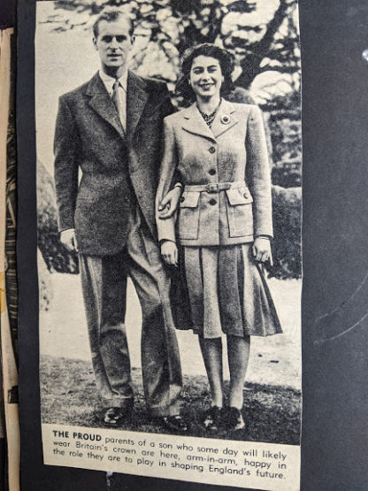 Princess Elizabeth arm-in-arm with her husband