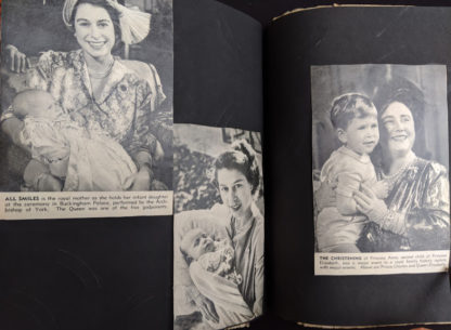 Princess Elizabeth holding baby Anne