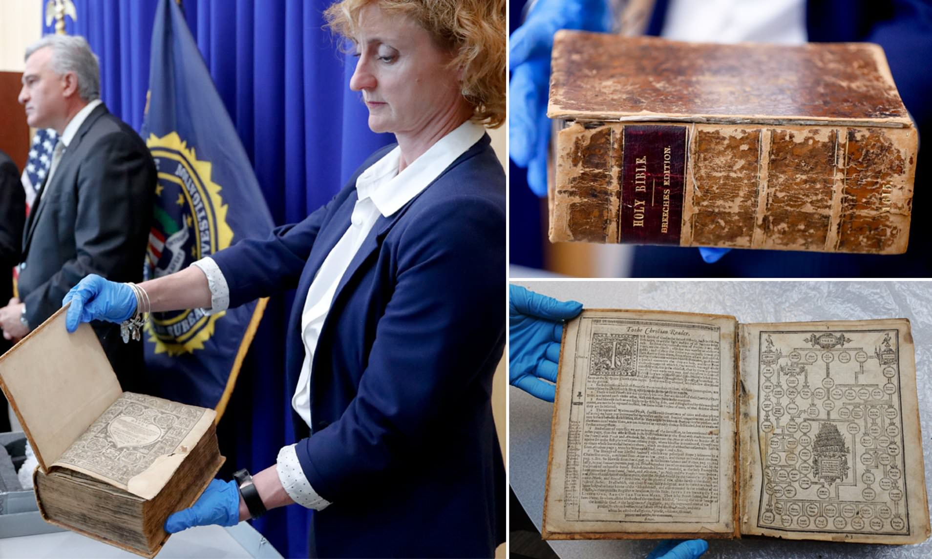 Prized 17th century Bible is returned to Pittsburgh library more than 20 years after it was stolen and smuggled to the Netherlands in $8 million theft operation