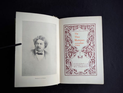 Title page inside a 1900 copy of The Three Musketeers by Alexandre Dumas - Published by Caldwell Company Publishers