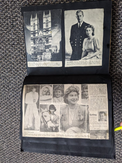 Vintage Souvenir Book Full of early article pictures of Queen Elizabeth and Royal family