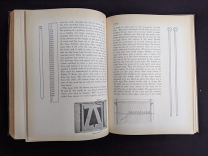 how to use a weaving loom inside a 1926 copy of Master Book 1 - Beginning the Use of Tools and Materials Published by Lewis E Myers & Company