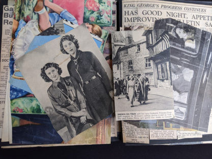 inside a Vintage Souvenir Book Full of early article pictures of Queen Elizabeth