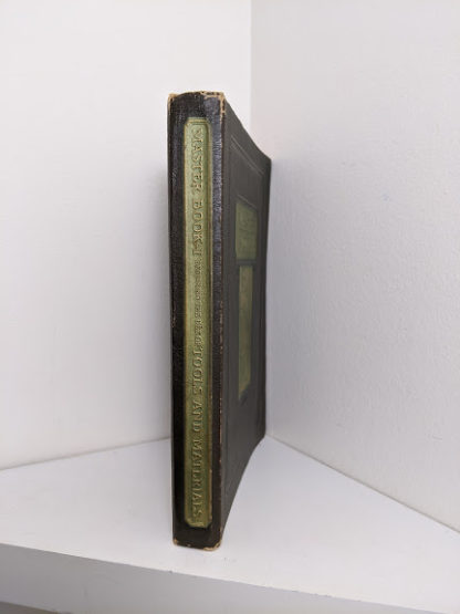 spine view of a 1926 copy of Master Book 1 - Beginning the Use of Tools and Materials Published by Lewis E Myers & Company