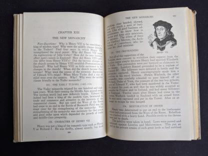Chapter 13 The New Monarchy in a 1937 copy of A History of Britain by H. B. King - macmillan company of canada ltd